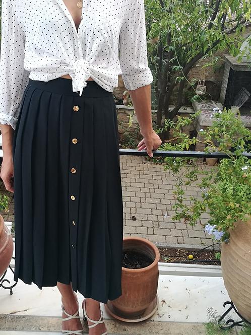 Vintage Maxi Button Down Black Skirt