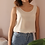Thumbnail: 90s Vintage Silk Top in Cream White - (EU46)