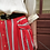 Thumbnail: Vintage Button Down Striped Skirt in Red