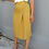 Thumbnail: Vintage Midi Skirt in Warm Yellow