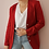 Thumbnail: Vintage 90s Linen Blazer in Wine Red