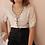 Thumbnail: 90s Austrian Vintage Linen Blouse in Beige - (EU42-44)