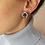 Thumbnail: Vintage 90s Silver Toned Circle Knot Earrings