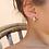 Thumbnail: Vintage Silver Pleated Leaf Earrings