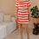 Thumbnail: Vintage Cotton Striped Dress in Red