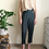 Thumbnail: Vintage Straight Leg  Silk Mix Trousers in Green