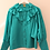 Thumbnail: 80s Vintage Statement Ruffle Blouse in Teal
