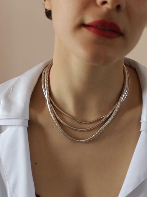 80s Vintage Multi-strand Chain Necklace