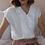 Thumbnail: 90s Vintage Double Collar Blouse in White - (EU44)
