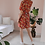 Thumbnail: 90s Vintage Floral Playsuit in Red - (EU46)