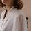 Thumbnail: 90s Vintage Statement Sleeves Blouse in White - (EU46)