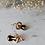 Thumbnail: Vintage Gold Toned Snake Earrings