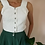 Thumbnail: Vintage Embroidered Top in White