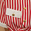 Thumbnail: Vintage Striped Button Up Blouse in Red