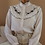 Thumbnail: 80s Vintage Statement Collar Blouse in White