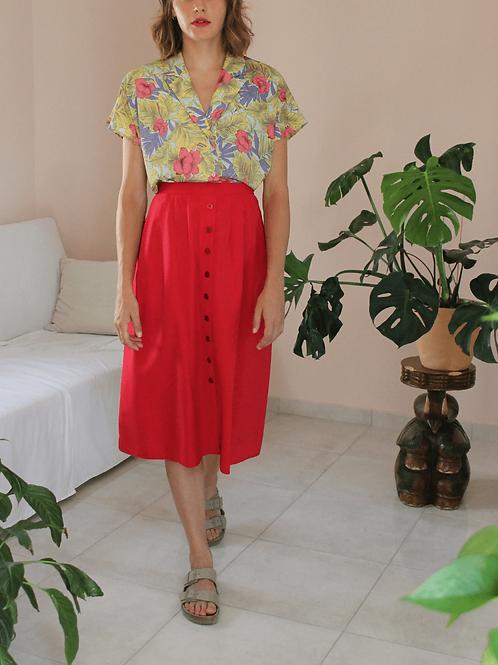 90s Vintage Minimalist High Waisted Skirt  - (EU42-44)