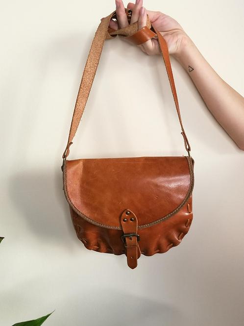 Vintage Leather Bag in Camel Brown