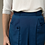 Thumbnail: Vintage  Cotton Skirt in Dark Blue with Front Pockets
