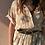 Thumbnail: Vintage Maxi Floral Dress in Beige