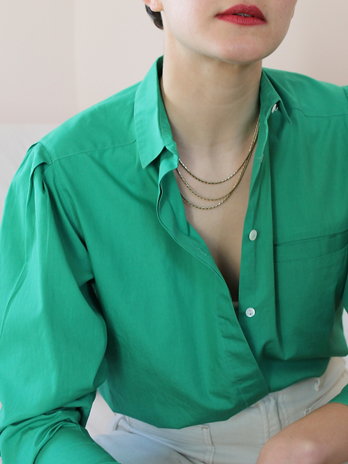 90s Vintage Cacharel Blouse in Green
