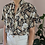 Thumbnail: 90s Vintage Floral Blouse with Short Sleeves  - (EU 46)