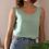Thumbnail: 90s Vintage Silk Top in Turquoise - (EU42-44)