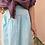 Thumbnail: Vintage Maxi Cotton Skirt in Turquoise