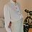 Thumbnail: Vintage Ruffle Neck Blouse in White