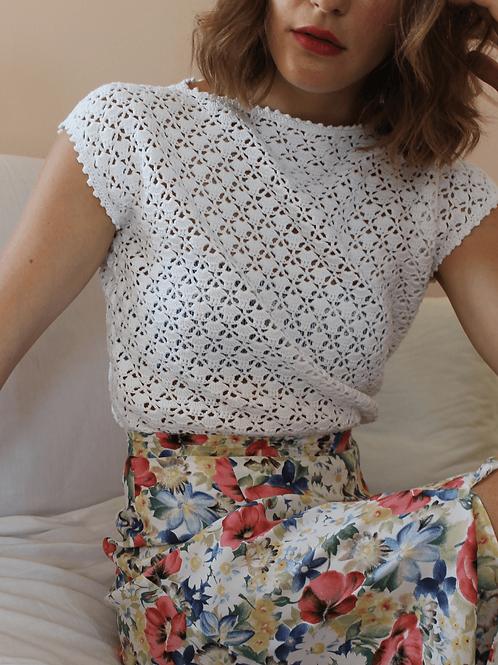 90s Vintage Pleated Floral Skirt - (EU40)