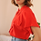 Thumbnail: 90s French Vintage Collar Blouse in Red - (EU46)