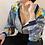 Thumbnail: 90s Vintage Versace Style Print Collar Blouse