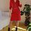 Thumbnail: Vintage 80s Wool Slip Dress in Red