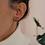 Thumbnail: Vintage 70s Chunky Half Hoop Earrings