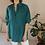 Thumbnail: 90s Vintage Silk Shirt in Emerald Green - (EU50)
