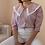 Thumbnail: 90s Vintage Statement Blouse in Pink - (EU44)
