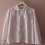 Thumbnail: 90s Vintage Statement Collar Blouse in White - (EU46)