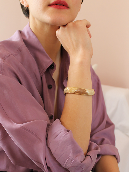 Vintage 90s Enamel Bangle Bracelet