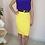 Thumbnail: Vintage Pencil Skirt in Lemon Yellow