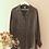 Thumbnail: Vintage 90s Silk Button Up Blouse in Black Print