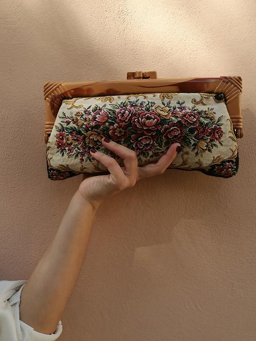 Vintage Embroidered Clutch Bag