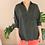 Thumbnail: 90s Vintage Silk Shirt in Black - (EU46-48)