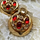 Thumbnail: Vintage Gold Toned Clip On Statement Earrings with Red Stones