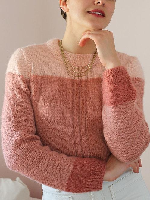 90s Vintage Spring Sweater in Pastel Pink