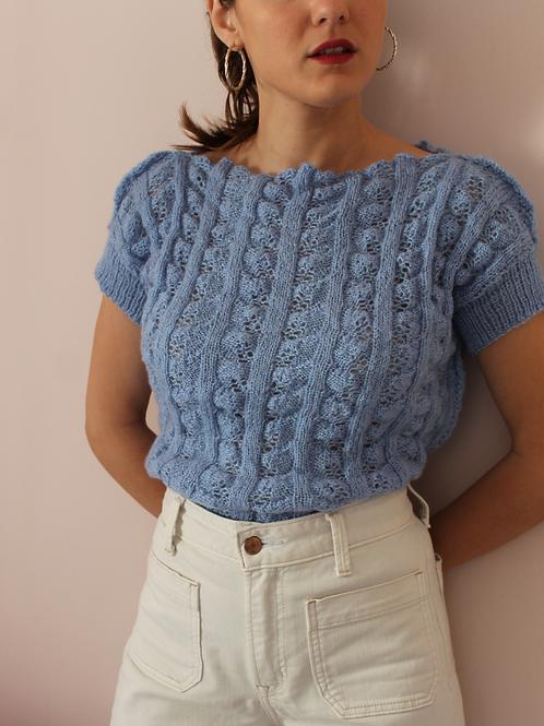 Vintage Summer Knit in Blue (EU38)