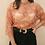 Thumbnail: Vintage Romantic Lace Blouse in Burnt Orange