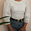Thumbnail: Vintage Puff Sleeves Blouse in White
