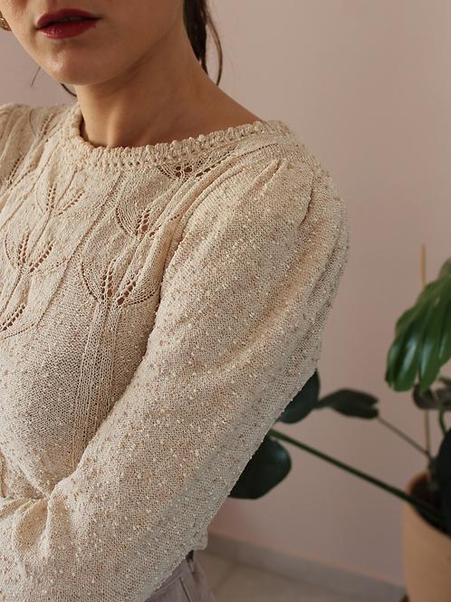 Vintage Summer Knit in Beige (EU34)