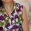 Thumbnail: 80s Vintage Floral Sleeveless Blouse - (EU46)