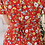 Thumbnail: 90s Vintage Floral Day Dress in Red- (EU42)