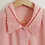 Thumbnail: Vintage Embroidered Collar Blouse in Pastel Pink